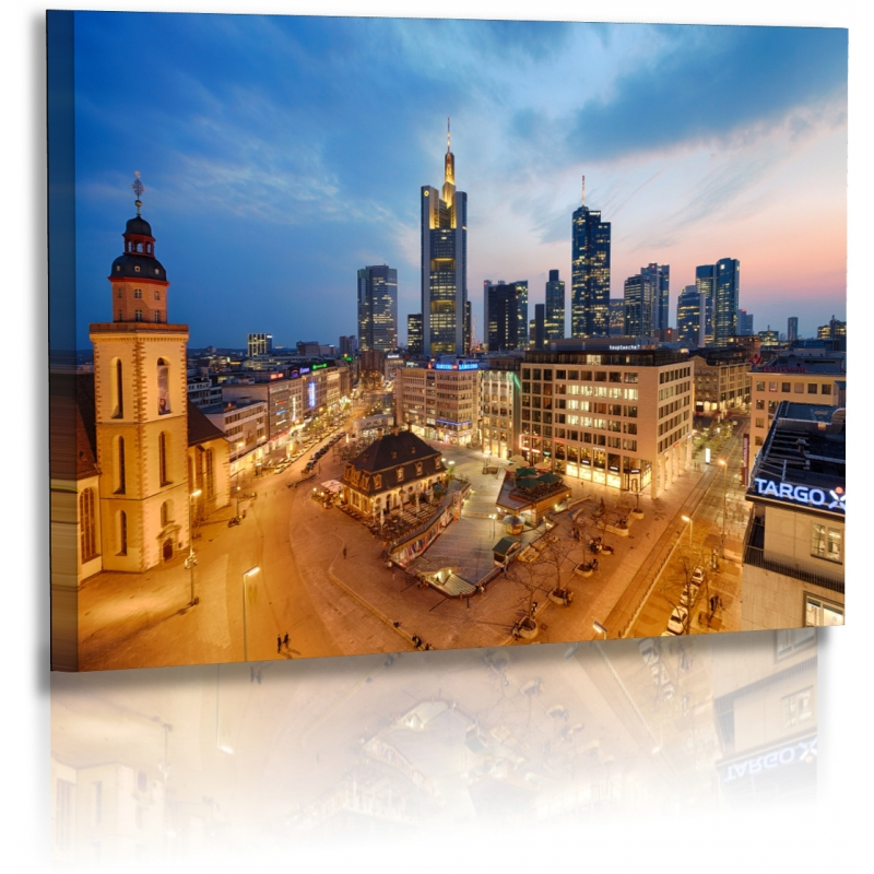 architekturfotografie bilder frankfurt stadt skyline leinwand. Black Bedroom Furniture Sets. Home Design Ideas