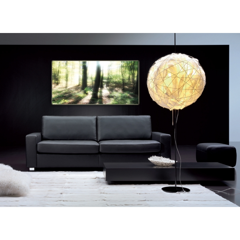 naturbilder landschaft bild waldlichtung sonnenstrahlen b a. Black Bedroom Furniture Sets. Home Design Ideas