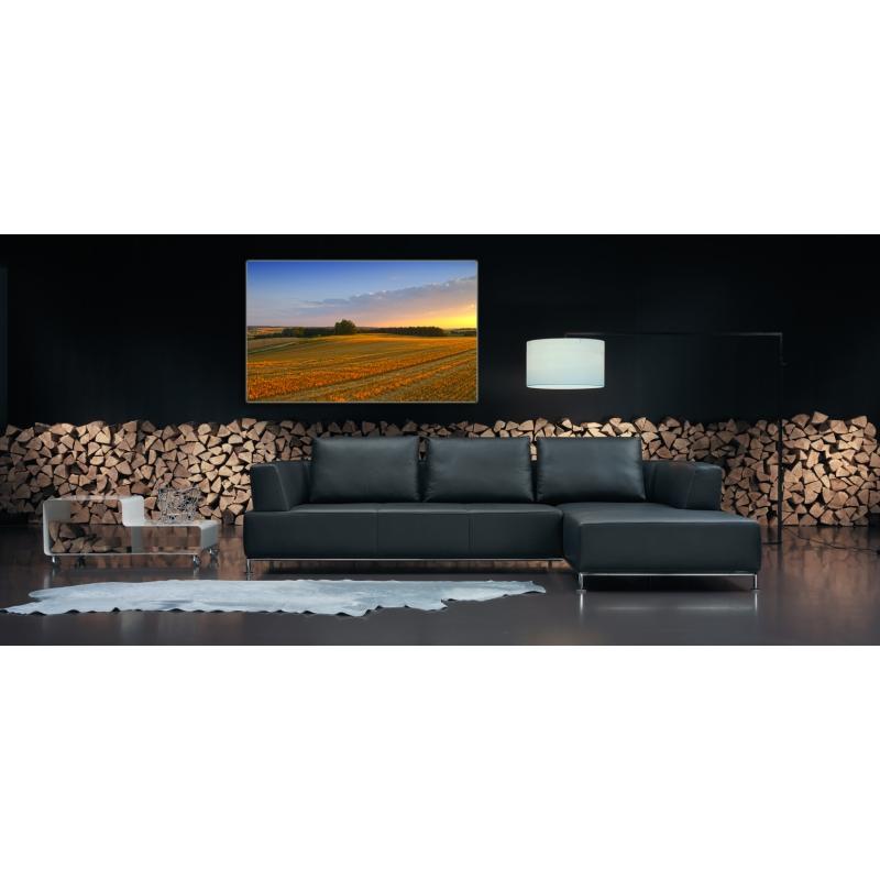 naturbilder landschaft feld bild sonnenuntergang wiese lein. Black Bedroom Furniture Sets. Home Design Ideas