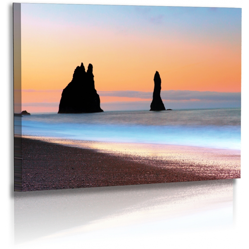 naturbilder landschaft island bild meer strand steine f. Black Bedroom Furniture Sets. Home Design Ideas